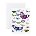 Butterflies Collage Greeting Card