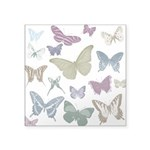 "Butterflies Collage Square Sticker 3"" x 3&quo"