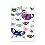 Butterflies Collage 35x21 Wall Decal
