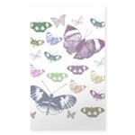 Butterflies Collage Sticker (Rectangle)