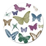 Butterflies Collage Round Car Magnet