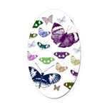 Butterflies Collage Oval Car Magnet
