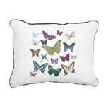 Butterflies Collage Rectangular Canvas Pillow