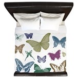 Butterflies Collage King Duvet