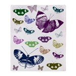 Butterflies Collage Throw Blanket