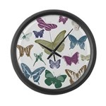 Butterflies Collage Large Wall Clock