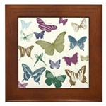 Butterflies Collage Framed Tile