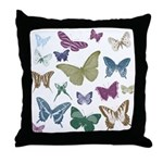 Butterflies Collage Throw Pillow