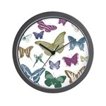 Butterflies Collage Wall Clock