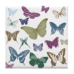 Butterflies Collage Tile Coaster