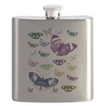Butterflies Collage Flask