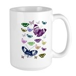 Butterflies Collage Large Mug
