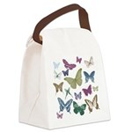Butterflies Collage Canvas Lunch Bag
