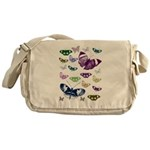 Butterflies Collage Messenger Bag
