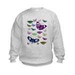 Butterflies Collage Kids Sweatshirt