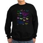 Butterflies Collage Sweatshirt (dark)