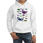 Butterflies Collage Hooded Sweatshirt