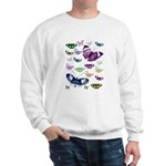 Butterflies Collage Sweatshirt