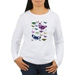 Butterflies Collage Women's Long Sleeve T-Shirt