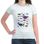 Butterflies Collage Jr. Ringer T-Shirt