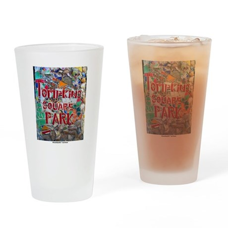 MosaicManNYC Tompkins Square Park Drinking Glass