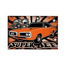 Super Bee Rectangle Magnet