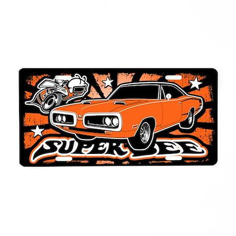 Super Bee Aluminum License Plate