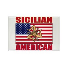 Sicilian American Rectangle Magnet