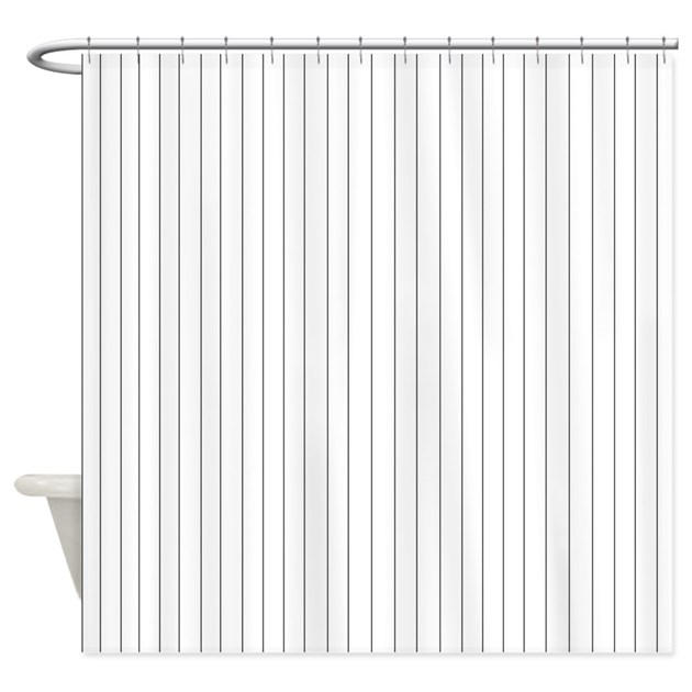 Black And White Striped Shower Curtain By Beachbumming
