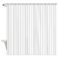 Black and White Striped Shower Curtain