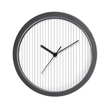 Black and White Striped Wall Clock