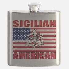 Sicilian American Flask