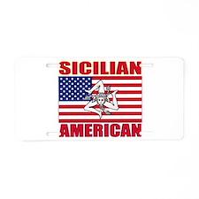 Sicilian American Aluminum License Plate