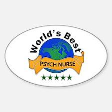 Psych nurse Sticker (Oval)