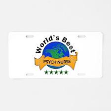 Psych Aluminum License Plate