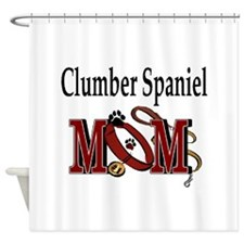 Clumber Spaniel Mom Shower Curtain