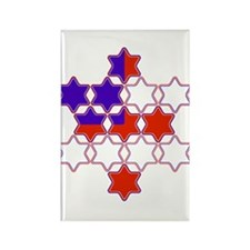 13 Stars of David Rectangle Magnet