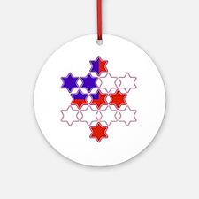 13 Stars of David Ornament (Round)