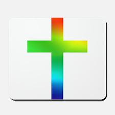 Rainbow cross Mousepad
