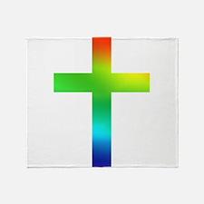 Rainbow cross Throw Blanket