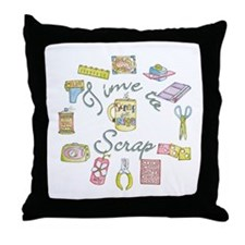 Time to Scrap by Leah Throw Pillow