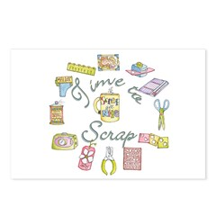 Time to Scrap by Leah Postcards (Package of 8)
