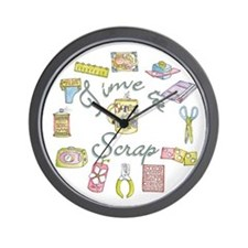 Time to Scrap by Leah Wall Clock