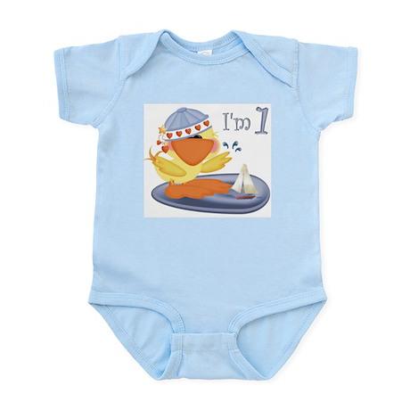 1st birthday baby boy duck Infant Creeper