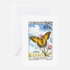 1961 Czech Swallowtail Butterfly Postage Stamp Gre