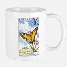 1961 Czech Swallowtail Butterfly Postage Stamp Small Small Mug