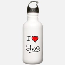 i love ghosts Water Bottle