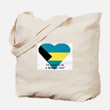 Bahamas love flag Tote Bag