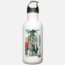 Lucy the Christmas Elephant, Margate NJ Water Bottle
