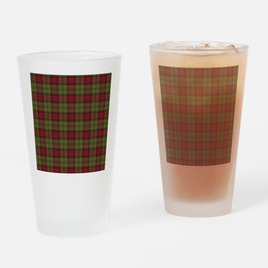 Red Green Tartan Drinking Glass